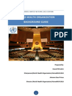 World Health Organization - Background Guide
