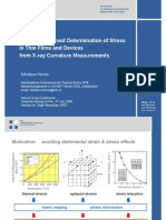 Spatially Resolved Determination of Stress in Thin Films and Devices from X-ray Curvature Measurements (DXC 2009)