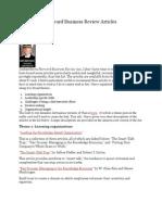 Favorite Harvard Business Review Articles