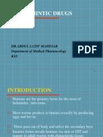 7 - Anthelmintic Drugs