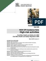 GNC 009 High Risk Activities 051211