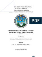 Instructivo Extracciones Industriales Primer Semestre 2013
