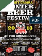2013 Derby Winter Beer Festival Programme