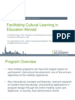 Facilitating cultural learning in education abroad | Spring EAIE Academy 2013