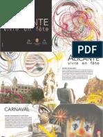 Folleto Fiestas en Alicante Frances 2006