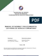 Manual de Normas y Procedimientos 120 Horas de Servicio Comunitario