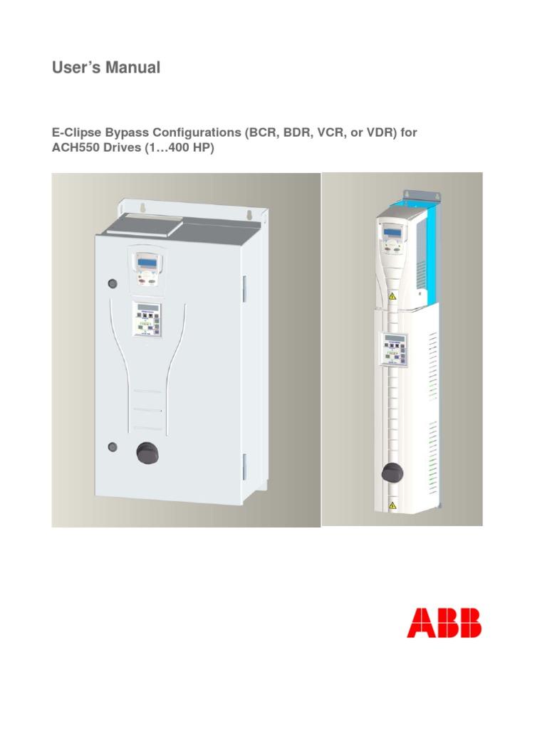 abb e clipse bypass users manual electrical wiring switch rh scribd com abb ach550-uh-072a-4 manual abb ach550-uh-031a-4 manual
