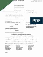Witness List for Martha Stewart Living Omnimedia and J.C. Penney