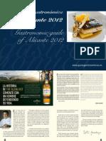 Guía Gastronómica de Alicante. Ed 2012