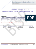 Hyperion Planning Building Form Validation