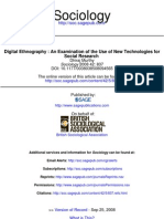 Digital Ethnography an Examination of the Use of New Technologies for Social Research