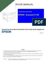 Epson Aculaser c1100 Color Laser Printer