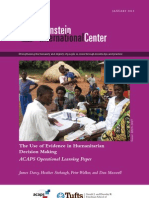 The Use of Evidence in Humanitarian Decision Making