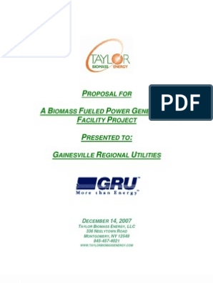 Taylor Biomass Energy Proposal | Gasification | Biomass