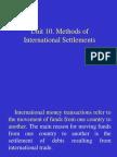 Trade Settlement Methods