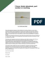Diode Zener Datasheet