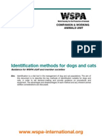 Identification Methods for Dogs and Cats