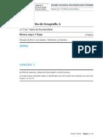 EXAME GEOG A (719 - 1ª FASE) - v 2 (2009)