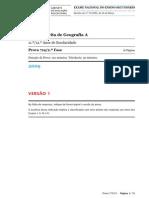 EXAME GEOG A (719 - 2ª FASE) - v 1 (2009)