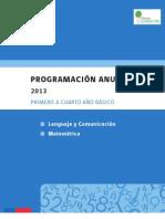 1º - 4°BÁSICO - PROGRAMACIÓN ANUAL LENGUAJE Y COMUNICACIÓN Y MATEMÁTICAS
