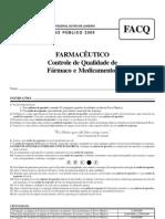 Farmacêutico - Programa Controle de Qualidade de Fármacos e Medicamentos