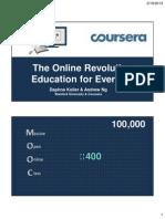 Coursera Presentation - Dr. Daphne Koller