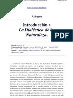 Introduccion a La Dialectica de La Naturaleza Engels