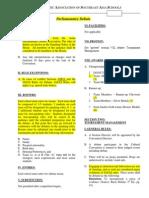 Parliamentary Debate Rules IASAS Draft