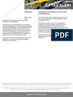 Tax Alert - Publicada Reforma Parcial del Reglamento de la Ley de Alimentación