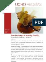 Don Lucho come en Astrid y Gastón