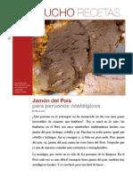 Jamón del País. Receta para peruanos nostálgicos