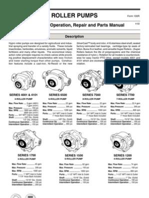 "7560C Hypro Cast 8 Roller Pump 3//4/"" Npt ports w// 15//16/"" Shaft 300 Psi 200 Gpm"