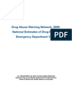 Substance Abuse and Mental Health Services (SAMHSA):National Estimates of Drug-Related Emergency Visits 2008