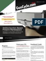 GunCycle Federal Firearm Licensee (FFL) Introductory Marketing Flyer