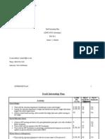 Final- Draft Internship Plan
