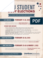USU Student Body Elections!  Become an ASUSU student officer at your campus