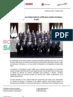 18-02-13 Boletin 1364 Se reúne Roberto con Gobernadores y EPN para unidos fortalecer al país