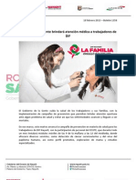 18-02-13 Boletin 1358 Gobierno de la Gente brindará atención médica a trabajadores de DIF.pdf