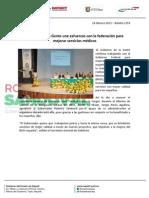 18-02-13 Boletin 1359 Gobierno de la Gente une esfuerzos con la federación para mejorar servicios médicos