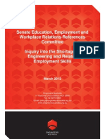 Engineers Australia Submission to Senate Skills Shortage Inquiry - March 2012