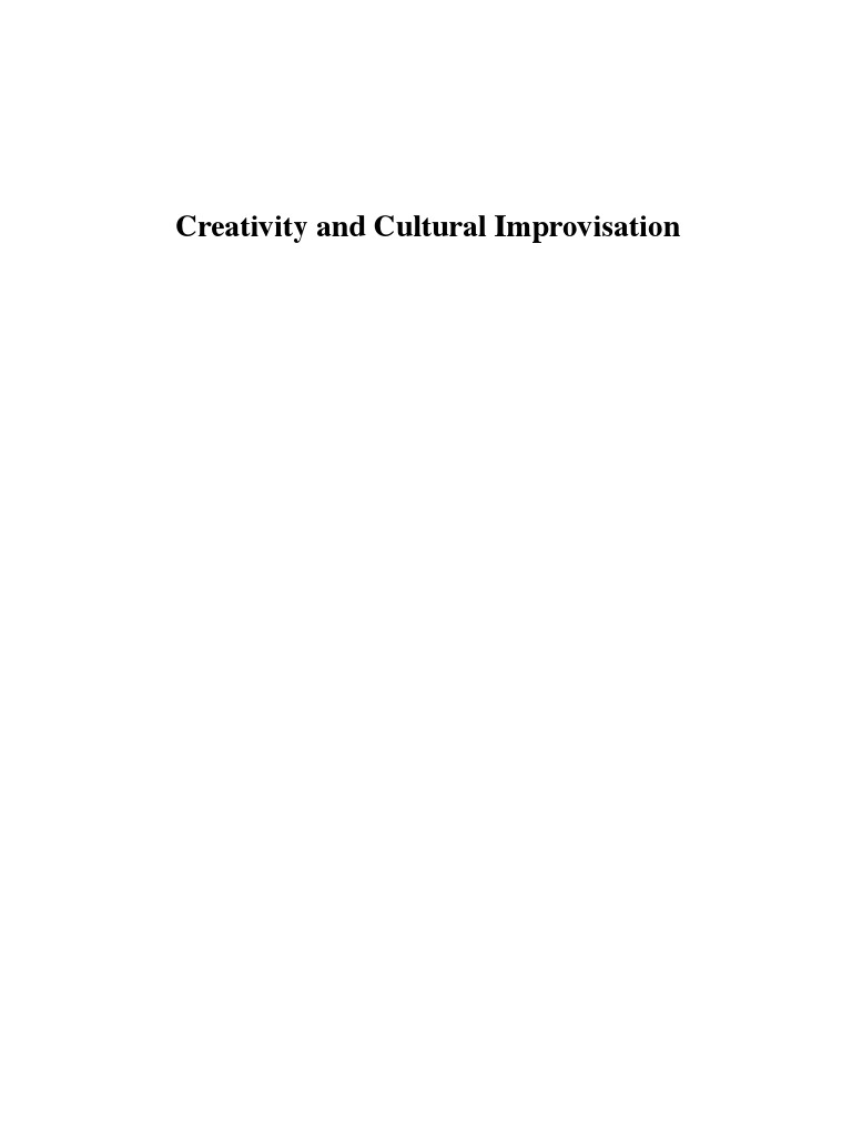 ingold e hallem creativity and cultural improvisation pro