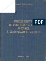 Prescriptii de Proiectare a Partii Electrice a Centralelor Si Statiilor