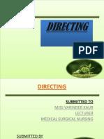 presentation on Directing m.sc. nursing 2nd year