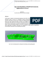 Computer Design and Simulation of Built Environment