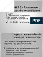 7b Les Tests de Recrutement