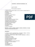 PROGRAMA DE MATÉRIAS - PMMG 2013