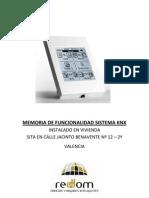 Memoria de Funcionalidad Sistema