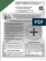 Bulletin for February 16-17-2013