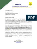 Carta Asamblea Abespri 2013