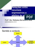 Relações entre recursos expressivos e efeitos de sentido